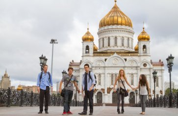 The gang in Moscow
